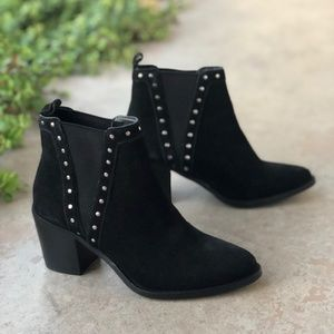 BCBGeneration Kassidy Suede Stud Leather Booties